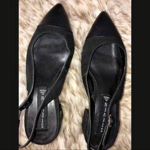 Steven by Steve Madden black mule heel shoes US 6